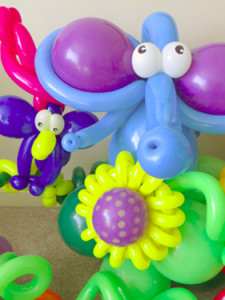 Elephant and parrot balloons