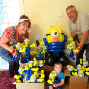 Minion party balloons