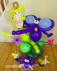 Balloon pals on balloon column