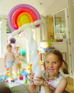 Rainbow balloon model