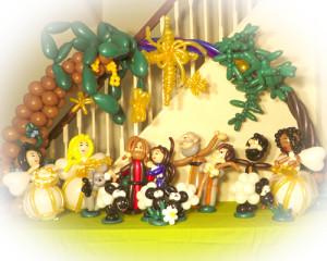 Christmas tableau