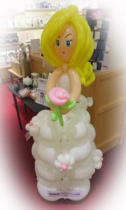 Sculptured balloon bride