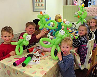 Balloon frog workshop