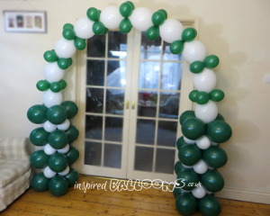 Linking balloon arch