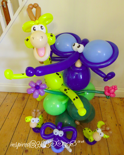 Balloon pals on balloon column