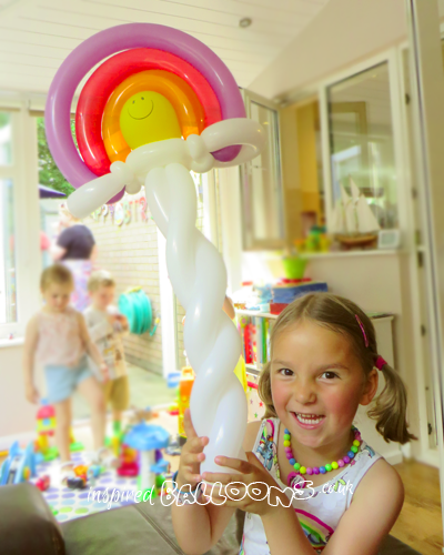 Rainbow balloon model