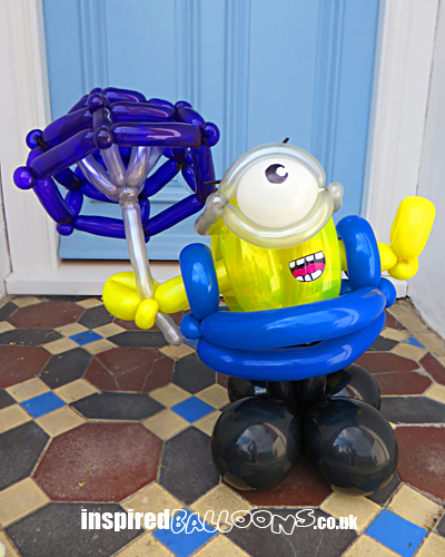 Minion with brolly balloon