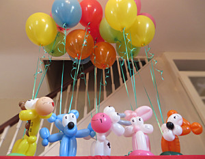 Animal balloon bouquets