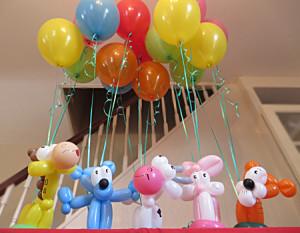Animal balloon bouquets