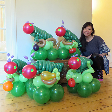 Hungry caterpillar balloons