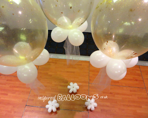 "16"" balloons filled with glitter"
