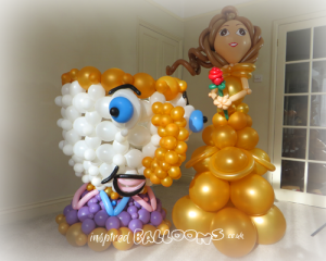 Belle and Chip balloon sculpture