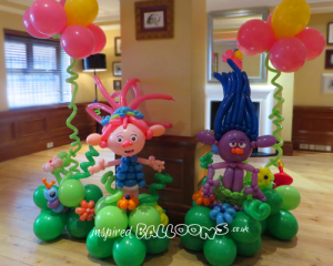 Trolls balloon scene, Poppy balloon